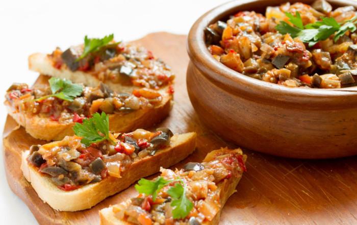 healthy roasted eggplant dip