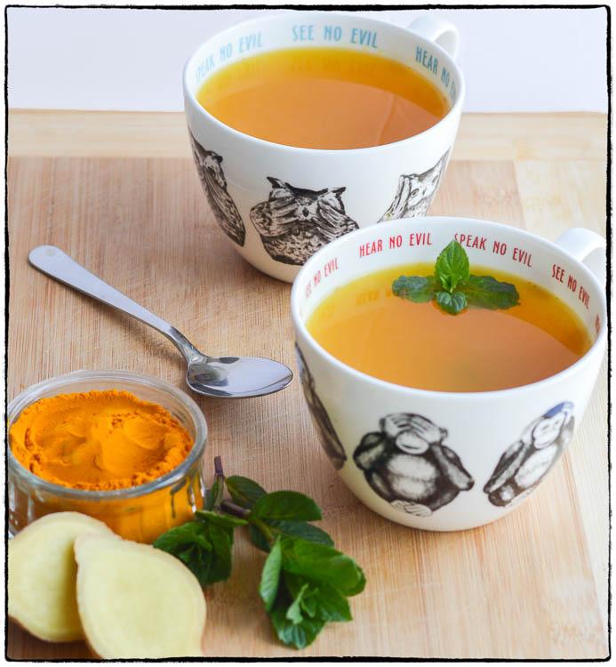ginger turmeric tea hay fever relief