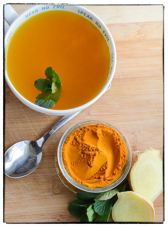 ginger turmeric min tea seasonal allergy relief