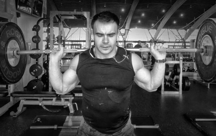 squats - high bar back squat