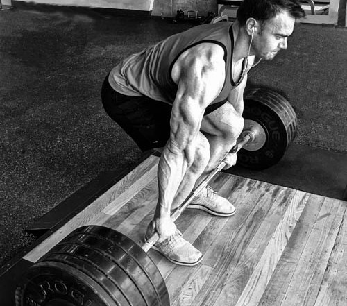 deadlifts black and white photo