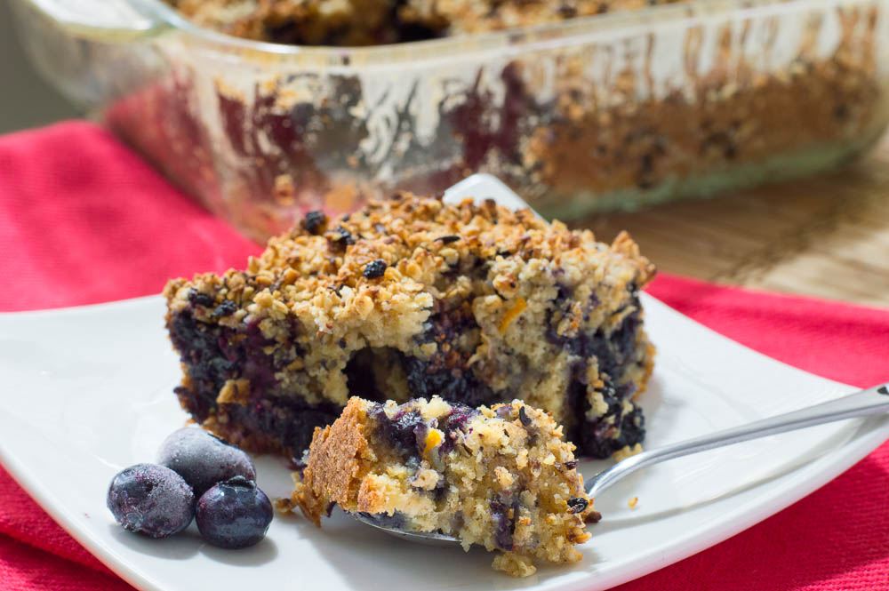 healthy blueberry coffee cake recipe