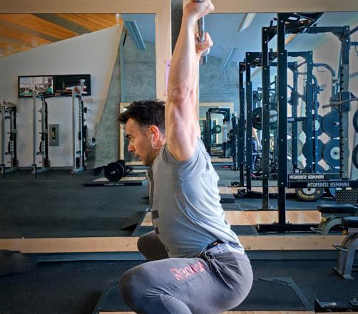 power snatch - overhead squat
