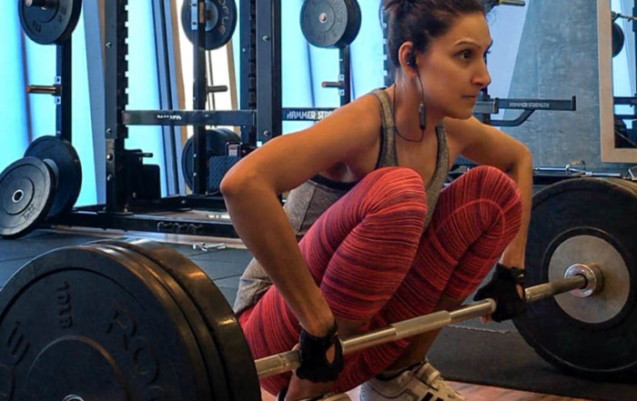 female strength training